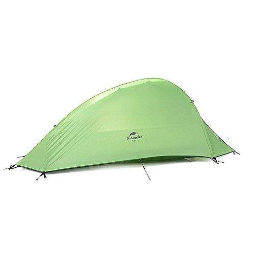 1 Person 4 SaisonTent Double Skin 210T Plaid Fabric Camping Ultraleicht Zelt (green)