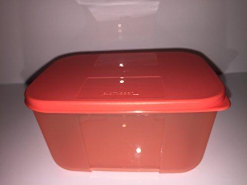 Tupperware Kühlschrank-System 700ml Dose rechteckig mit Deckel hummer Sonderfarbe orange Großes Tupperware Salat Schüssel