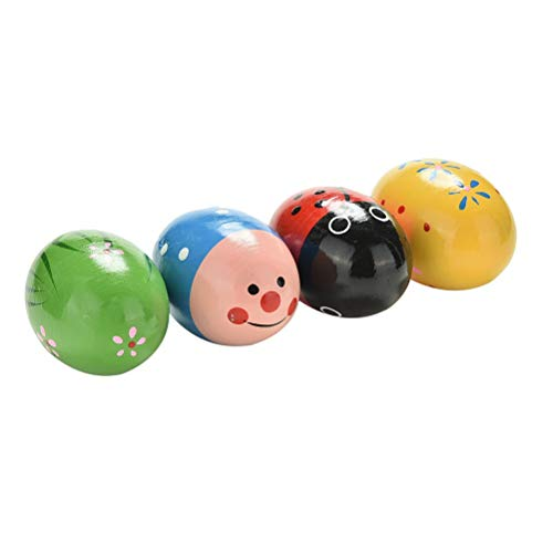 Musical Egg Kids Baby Wooden Egg Maracas Shakers Music Percussion Toy (3pcs Random Color)