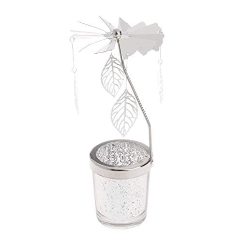 KaiDeng Kerzenhalter, Rotary Spinning Teelicht Kerze Metall Teelicht Halter Karussell Dekoration - Kerze-halter-wand-dekoration