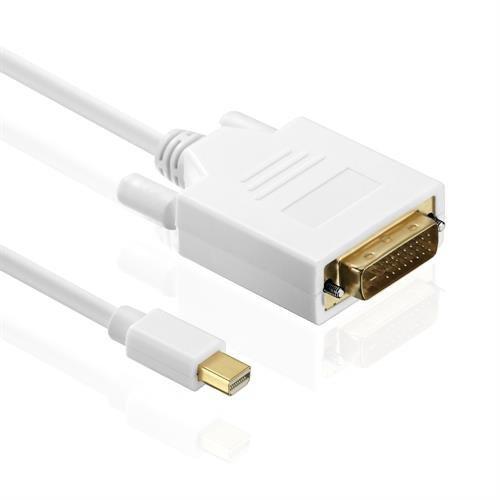 HDSupply X-DC040-030 DisplayPort auf DVI Single Link Kabel , vergoldete Kontakte, 3,0m, weiß