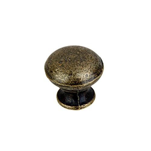 Lot de 6 Poignée Bouton de Porte Rond Tiroir Armoire Vintage - Laiton Antique