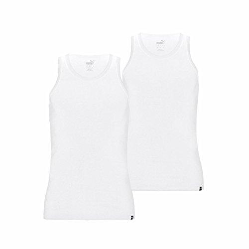 Puma Herren Basic Tank Top 4er Pack, Größe:L;Farbe:White (300)