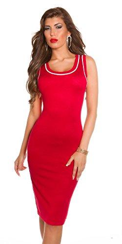 FeinstrickKleid mit Schleifen Rot