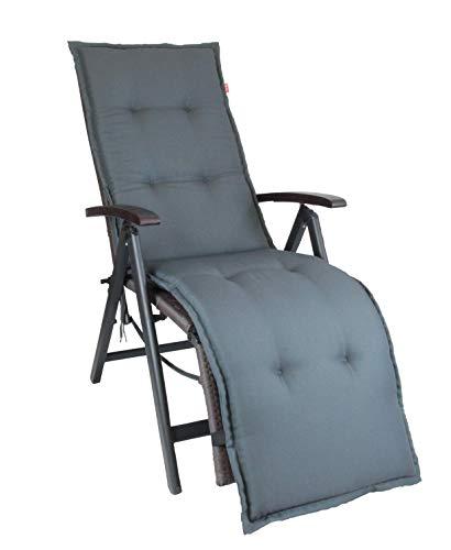 Herlag Florence Polsterauflage für Liegestuhl (Rückenhalteband, Farbe grau, Füllung 100% PU...