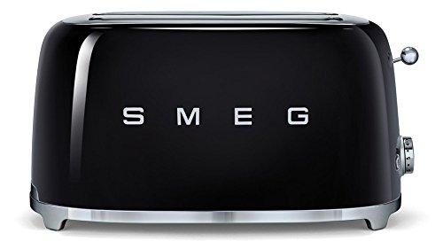 Smeg TSF02BLEU Toaster 4 Scheiben, schwarz