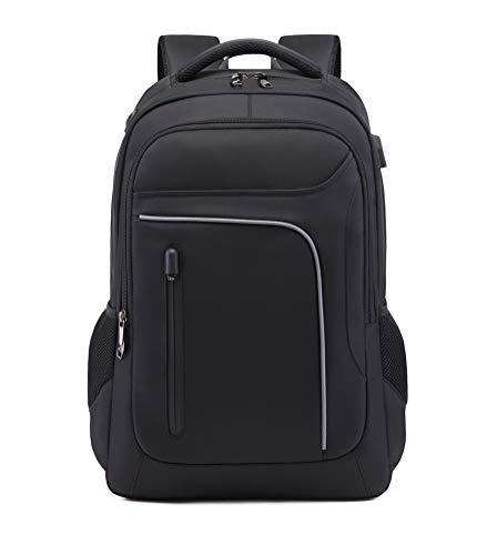 Asge Business Rucksack Herren Oxford-gewebe Wasserdicht Laptop Backpack Notebook Schulrucksack Casual Daypack Computer Rucksäcke mit USB Kopfhöreranschluss Großer Busineß Laptoprucksack für 15-17 Zoll