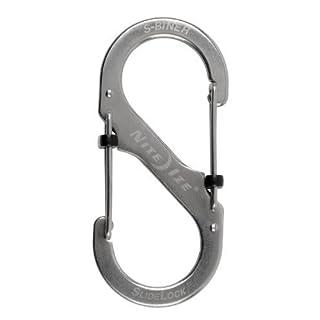 Nite Ize LSB4-11-R3 S-Biner Slide Lock, Stainless Steel by Nite Ize