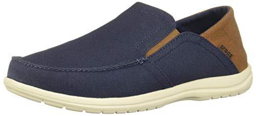 crocs Herren Slip-on Santa Cruz Convertible Loafer, zum Reinschlüpfen, flach, Navy/Hazelnut, 48 EU (Crocs-herren-santa Cruz Slip On)