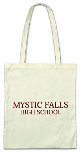 Hipster-fällen (Mystic Falls High School Hipster Bag Beutel Stofftasche Einkaufstasche)