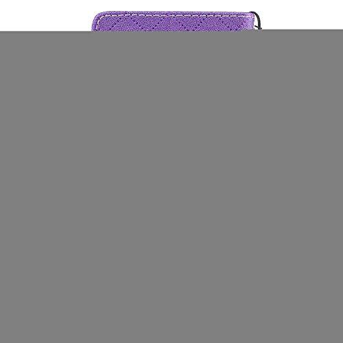 Funda Nokia 3,TOUCASA® PU Cuero Billetera Ranuras para Tarjetas y Billetera TPU Silicona Case Interna Suave Diseño de Patrón de amor del corazón Diseño de líneas a rayas y cuadros nueva llegada Magnético Función Delgado Funda para Nokia 3-Color Púrpura