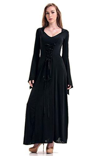 LifeWheel Halloween Hexen Kleider Cosplay Kostüme (Kleid Halloween Schwarz)