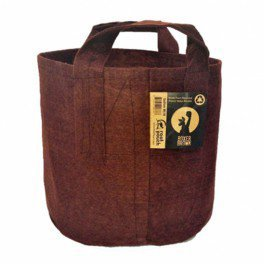 pot textile tissu Root Pouch 56L 43x38cm - Avec anses - Marron