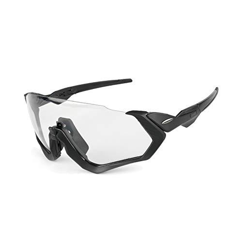 Amody Schutzbrillen Draussen Sports Fahrrad Reitbrille Windproof Polarized Glasses Glasses Schwarz + transparente Linsen