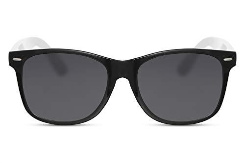 Cheapass Sonnenbrille Schwarz Weiß Getönt UV-400 Zweifarbig Recht-Eckig Plastik Damen Herren