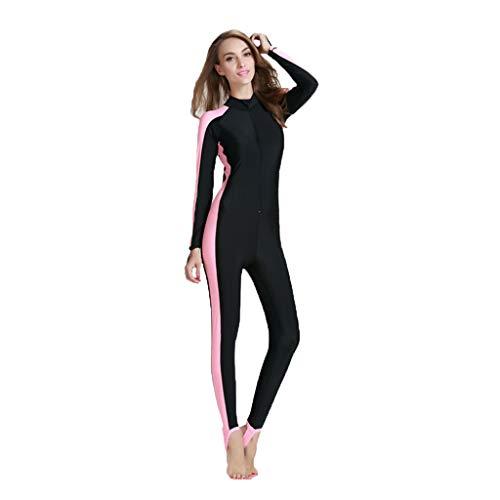 ZEELIY Femmes Grande Taille Combinaison de Plongée ❀ Anti-UV Lycra Combinaisons néoprène Une Pièce Maillot de Bain Surf Costume de Plongée à Manches Longues Élastique Chaud S-4XL