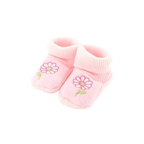 Chaussons pour bébé 0 à 3 Mois rose - Motif Fleur