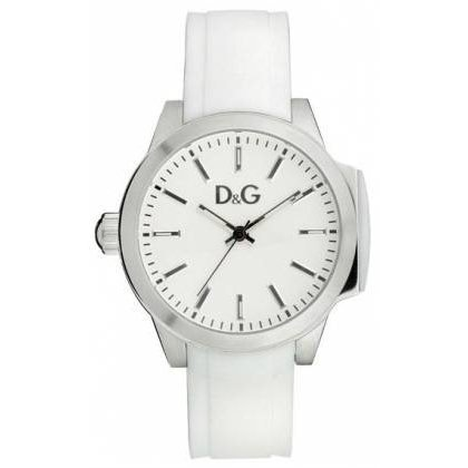 Dolce & Gabbana DW0746 - Reloj para mujeres, correa de silicona color blanco