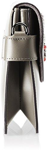 Chicca Borse 8801, Borsa a Spalla Donna, 28x19x5 cm (W x H x L) Grigio