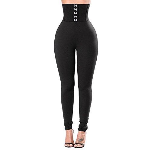 NINGSANJIN Damen Hosen Gymnastik-Yoga-Laufsport-Fitness-Gamaschen der Art- und Weisefrauen Yoga-Kleidung 364 (Schwarz,M) -