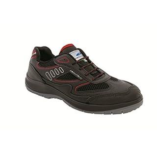 Aboutblu 1930010la _ 44Eagle Black Red S3Work Shoe, Size 44, Black Red