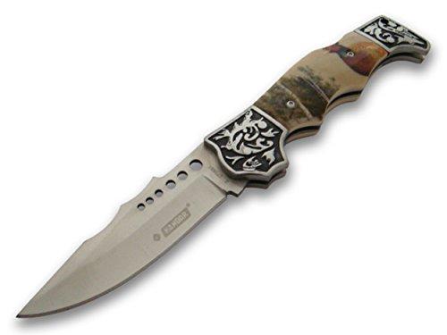 wunderschönes Waidmannsheil Jagd Taschenmesser - Klapp- Faltmesser - Dear Hunter Knife mit Fasan Motiv -