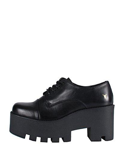 Windsor SmithFame Black Shoes - Scarpe Da Donna Nere In Pelle