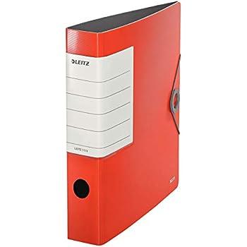 Dorso 6.5 cm Formato A4 Rosso granato 11090028 Active Style Polyfoam leggero Leitz Raccoglitore con meccanismo a leva 180/° Chiusura a elastico