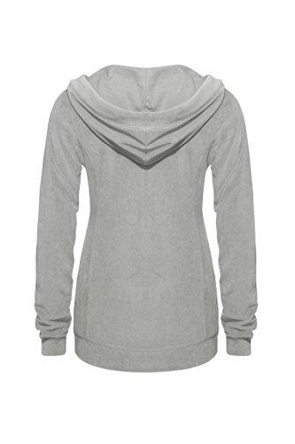 Bellybutton Damen Umstands Strickjacke Loungewear-Jacke 11348-80825 Grau (Paloma 1160)