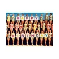 "Bikini everyday cards 5""x7"" Swimsuit girls Happy Birthday - Greeting Card max hernn"