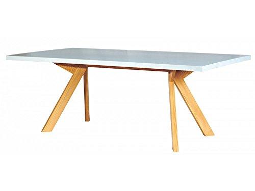 Tavolo Caruaru massiccio bianco miele 200 X 100 in legno di pino FSC ...