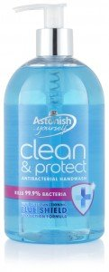 ASTONISH,'Clean & Protect' HANDWASH,ANTIBACTERIAL SOAP AN ANTIBACTERIAL LIQUID SOAP, SOAP DISPENSER 500ML BOTTLE, SOLD AS HAND WASH SET, OF 2, (Fresh) by Astonish