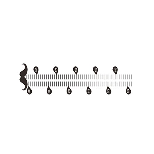 (WINOMO Messlatte Kinder Wand Aufkleber Wachstum messen für Kinderzimmer Wohnzimmer Schnurrbart Muster Wanddeko)