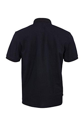 Little Lou® I Poloshirt Herren Kurzam Regular Fit Polo-Hemd Uni-Farben Einfarbig Schwarz Polokragen Herrenhemd Oberteil Textil I Streetwaer Men Style Schwarz