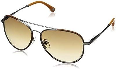 Michael Kors - Gafas de sol Ovaladas MKS167 para mujer, Silver/Brown frame / Beige lens (045)