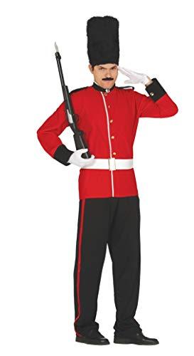 Fiestas Guirca Englische königliche Gardesoldat-Kostümwache der Königin von England