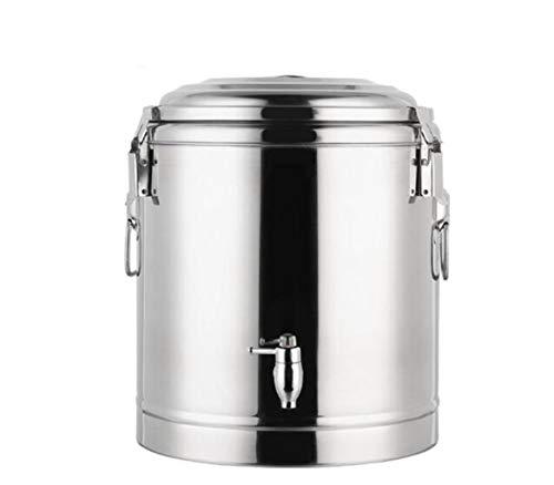 JSHFD Edelstahl Heißwasserspender Catering Heißwasserkessel Tee Zylinder Kaffee Große Kapazität Doppelte Isolierung Eiskübel Geeignet for Business School Office Verwenden (Color : Silver, Size : 15L)