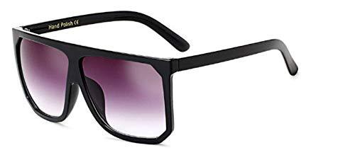 ZJMIYJ Sonnenbrillen Übergröße Frauen quadratische Sonnenbrille Designer Classic Sommer Standard Farben Flat Top Frame Brille grau