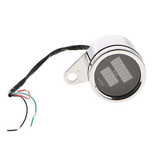 IPOTCH Universal Motorrad Digital Tacho Tachometer Drehzahlmesser Geschwindigkeitsmesser Höhe: Ca. 52 m / 2 Zoll