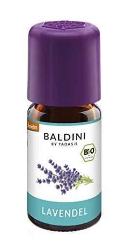 Baldini - Lavendelöl BIO, 100{f2e0fb493cf0ba6c999d0310af93b11427c465880c41e6db9a7e6e02058ccbbb} naturreines ätherisches BIO Lavendel Öl fein aus Frankreich, Bio Aroma, 5 ml