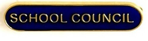SCHOOL COUNCIL METAL PIN BADGE BLUE SB012B