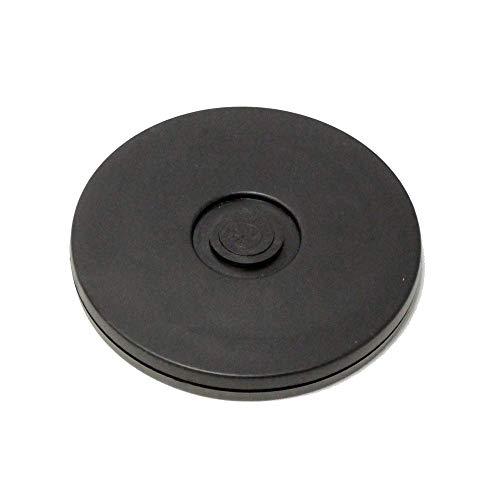 PrimeMatik - Manuelle rotierende drehteller 10 cm schwarz -