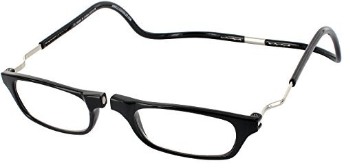 Clic Magnetic XXL Reading Glasses in black, +2.00 by CliC