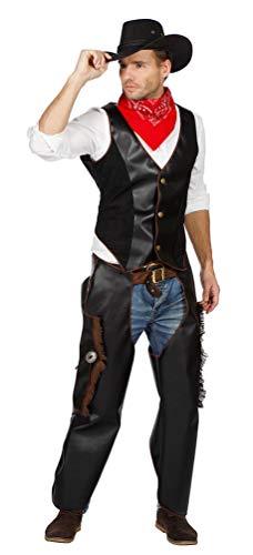 Karneval-Klamotten Cowboy Kostüm Männer Herren-Kostüm Luxus Weste und Chaps Größe 60