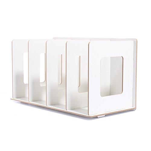 BANDRA CD DVD Ständer Rack 30,5 * 15 * 17cm Buchen Magazin Halter Desktop bücherregal Holz für Zuhause und Büro