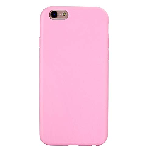Daxey - Macarons Farbe TPU Silikon-Mattkasten für iPhone 6 6S Plus 5 5S SE weiche rückseitige Abdeckung für iPhone 7 8 7Plus X Xs Max XR [Phone X Pink]