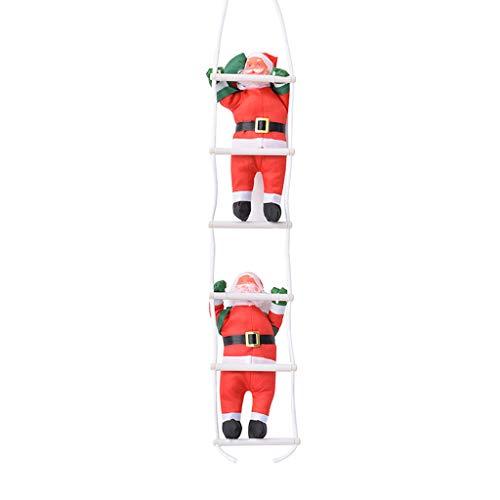 Kofun creative christmas home decoration santa claus climbing on rope ladder albero di natale appeso ornamento ciondolo giocattolo 2#