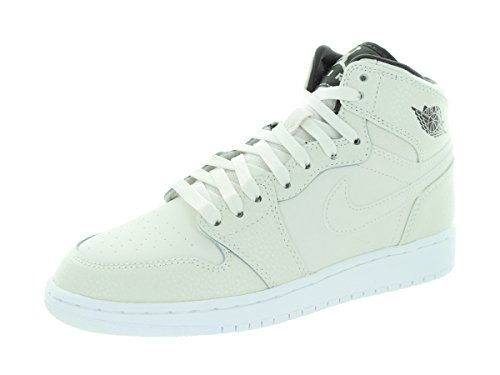 best loved 196a1 3e7c3 Nike Mädchen Air Jordan 1 Retro HI Prem GG Basketballschuhe, Weiß, Grau  (Phntm