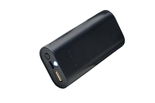 Aricona Power Bank 5200 mAh in schwarz - externer & mobiler USB PowerBank Akku, paralleler Ladevorgang für bis zu Zwei Handy 's, Smartphones & Tablets - der Power Pack Charger
