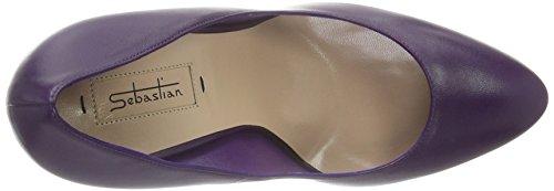 Sebastian Damen S7117 Pumps Violett (Napaub/Oro)